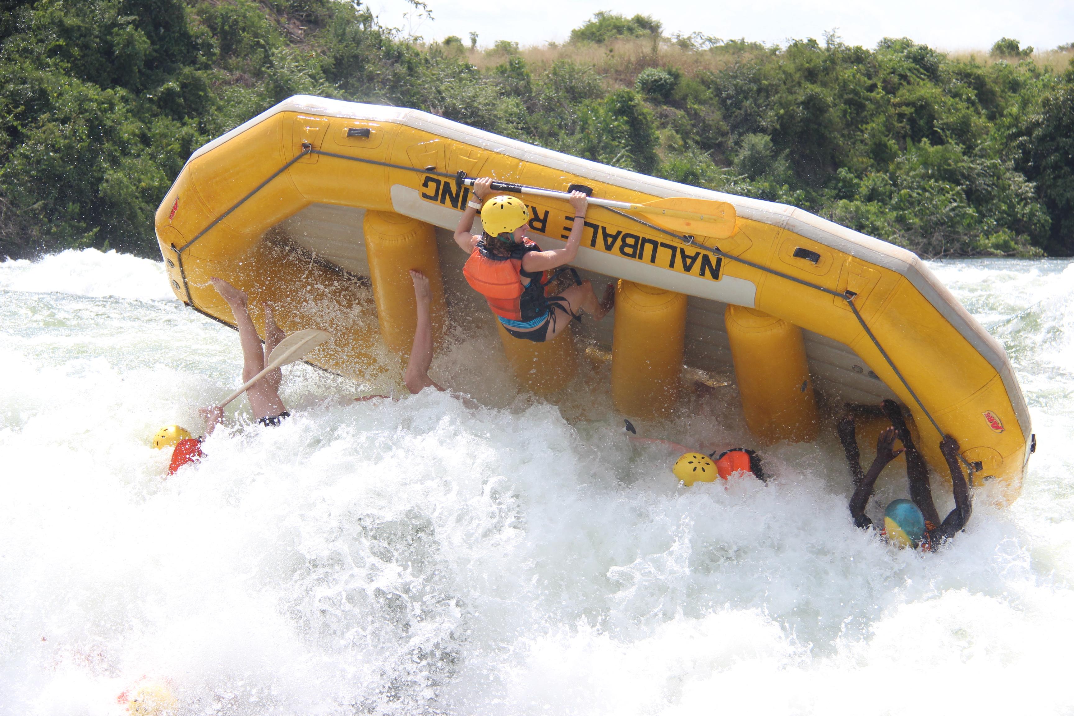 Whitewater rafting on the White Nile, Uganda.