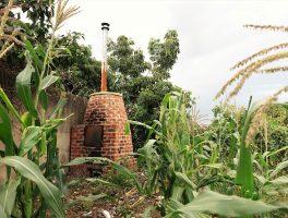 Trash incinerator in Uganda.