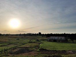 Uganda, Iganga, rural East Africa, sunset