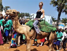 Uganda, East Africa, Jinja, Agricultural Show, camel ride, fair