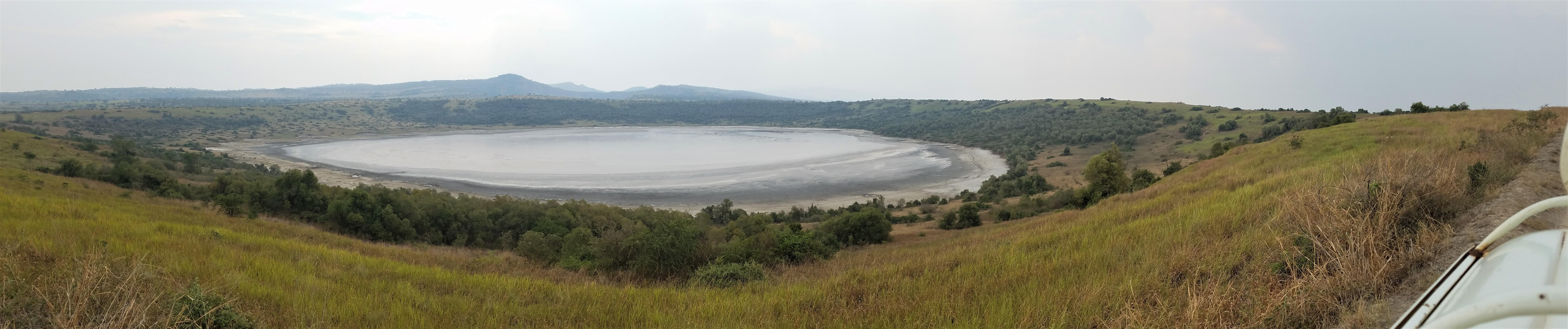 Uganda, Red Chili, Queen Elizabeth National Park, salt lake, volcanic crater, crater