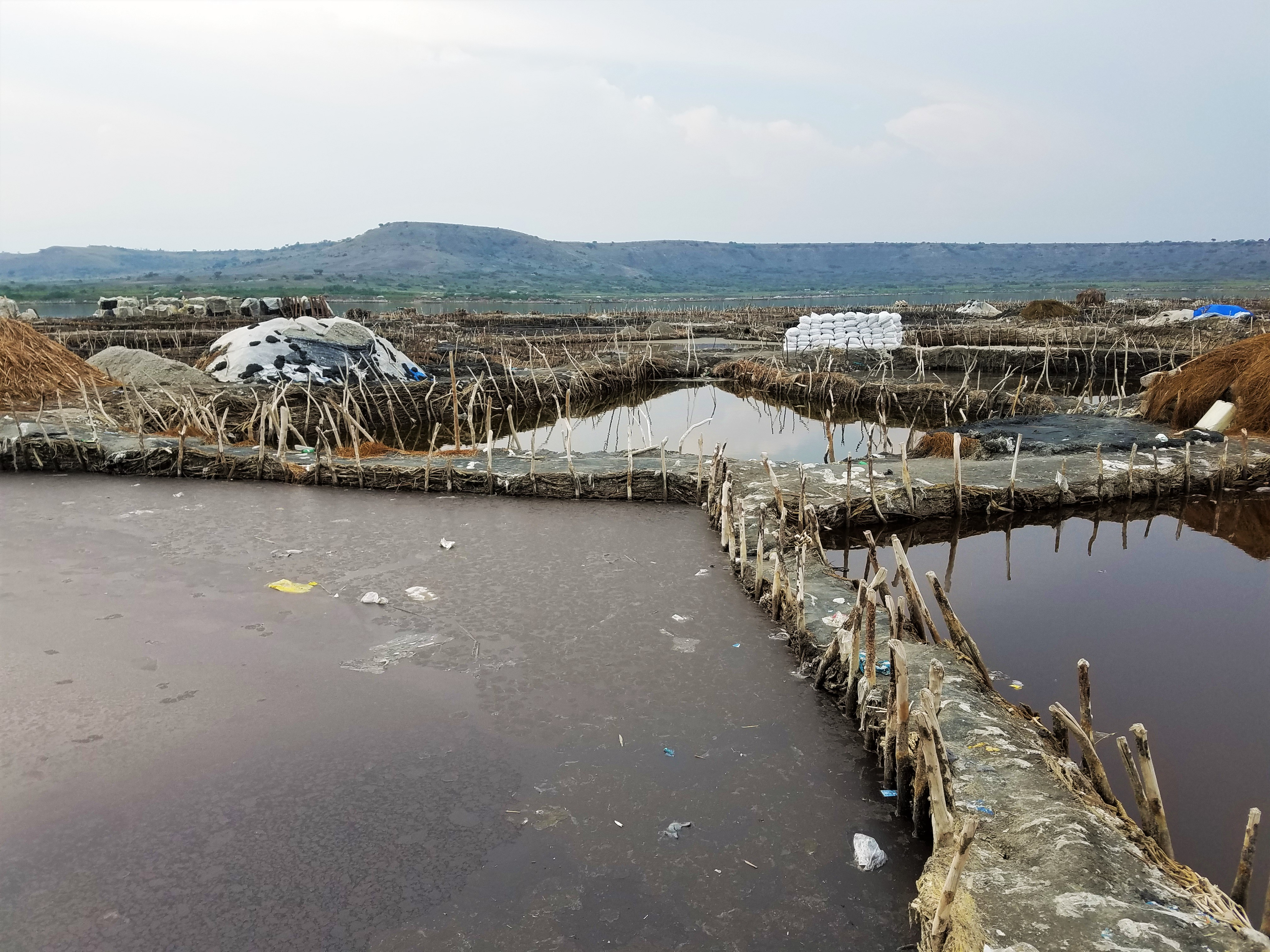 Salt mine, brine, Uganda, Red Chili, Queen Elizabeth National Park