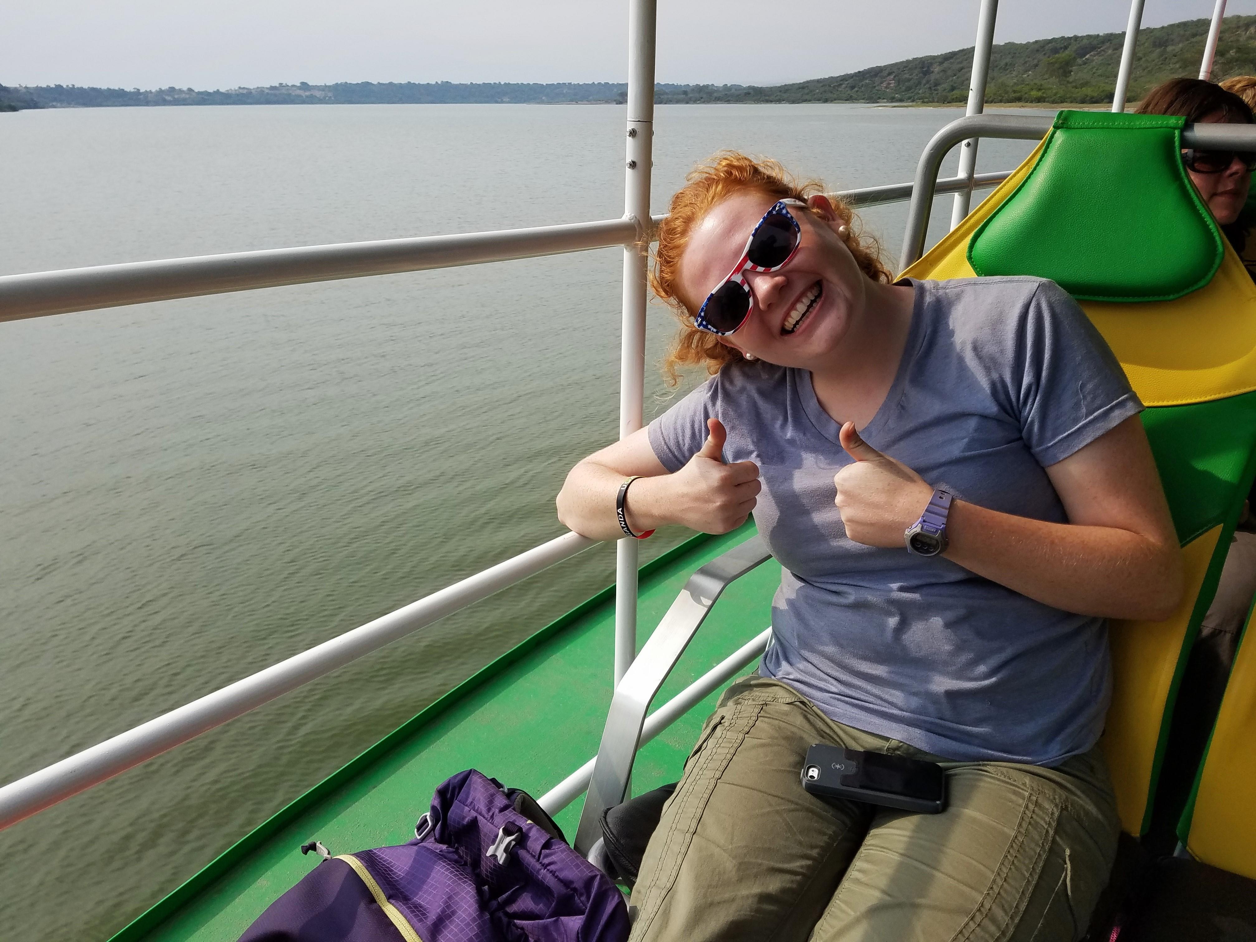 safari, Uganda, Red Chili, Queen Elizabeth National Park, boat, murica