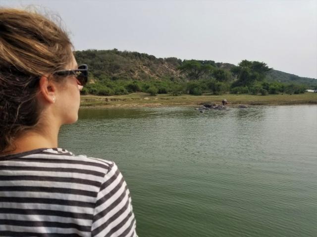 safari, Uganda, Red Chili, Queen Elizabeth National Park, boat, hippopotamus